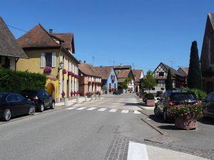 Rue du village de Illhaeusern